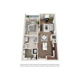 Bell Glenridge 1 Bedroom Floor Plan