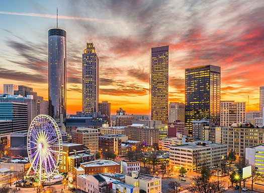 Atlanta Night Skyline