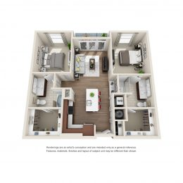 Bell Glenridge 2 Bedroom Floor Plan