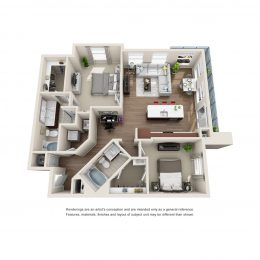Bell Glenridge 2 Bedroom Floor Plan